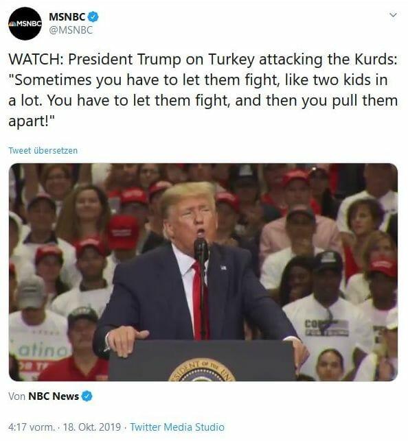 Donald Trump ist der ganze Nahe Osten völlig egal - außer...