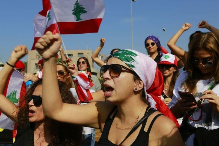 Demonstrantinnen im Libanon