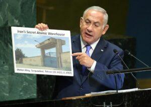 """Netanjahu präsentiert Irans geheimes """"nukleares Warenlager"""" vor der UNO"""