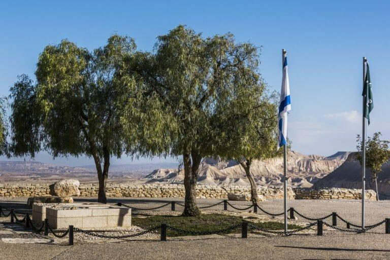 Die Gräber von David Ben Gurion und seiner Frau Paula in Sde Boker