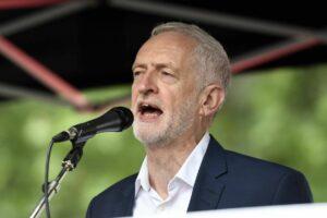 Jeremy Corbyn auf der Demonstration gegen Donald Trumps Staatsbesuch in GB