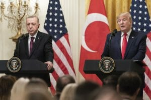 Erdogan und Trump bei der Pressekonferenz im Weißen Haus