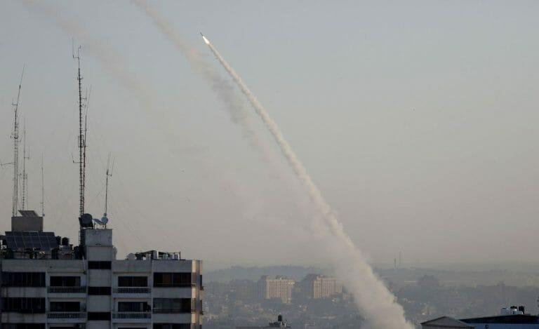 Aus dem Gazastreifen auf Israel abgefeuerte Raketen
