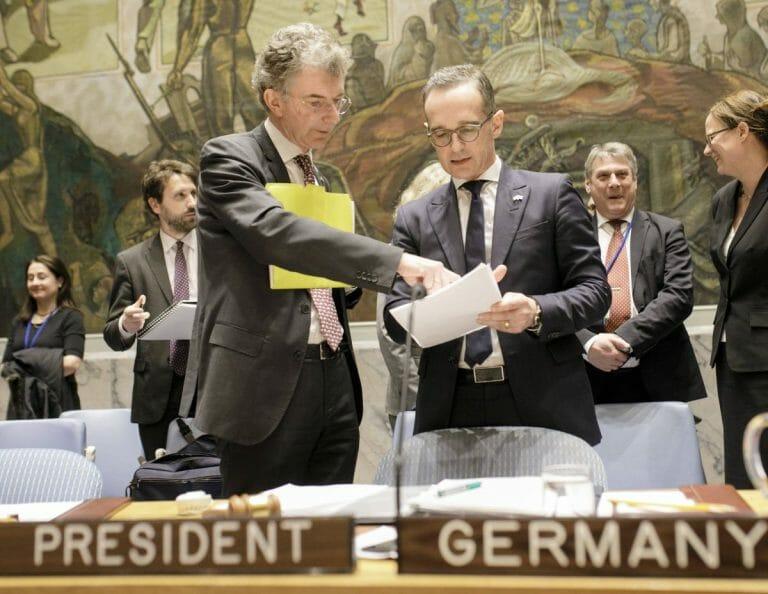 Der deutsche UN-Botschafter Christoph Heusgen mit Außenminister Heiko Maas