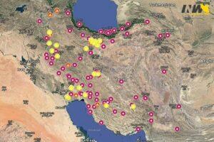 Städte im Iran, in denen es zu Protesten gekommen ist