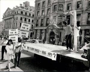 Protest für im Irak verfolgte Juden