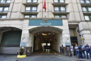 Das Millenium Gloucester Hotel in London, wo die Konferenz stattfand