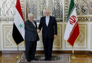 Syriens Außenminister Muallem mit seinem iranischen Amtskollegen Zarif