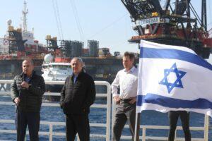 Netanjahu besucht die Leviathan-Gasbohrinsel