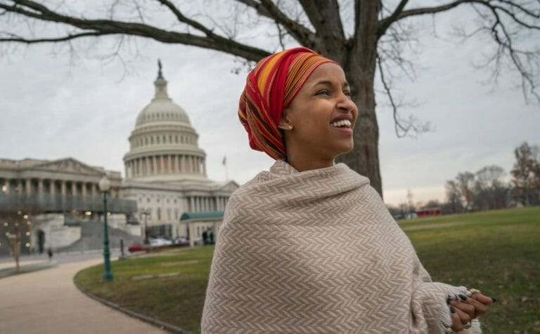 Ilhan Omar vor dem Kapitol in Washington