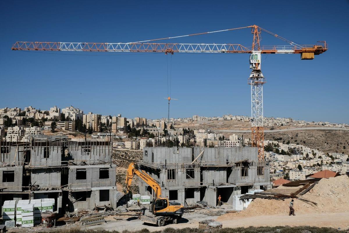 Israelische Bautätigkeit in Pisgat Zeev, einem Vorort von Jerusalem im Westjordanland