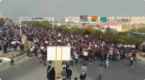 Demonstration in der iranischen Stadt Shiraz
