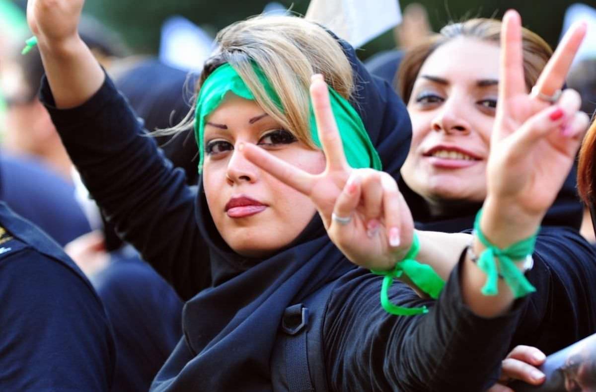 Protestierende Iranerinnen