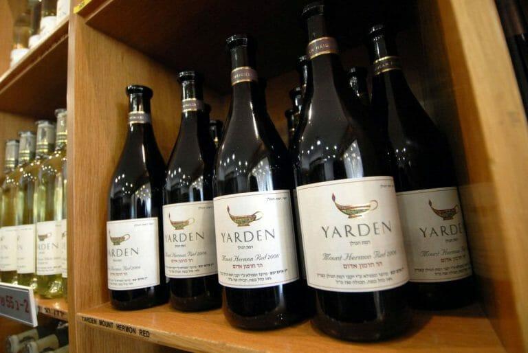 Muss zukünftig für die EU extra gekennzeichnet werden: Yarden-Wein aus Israel