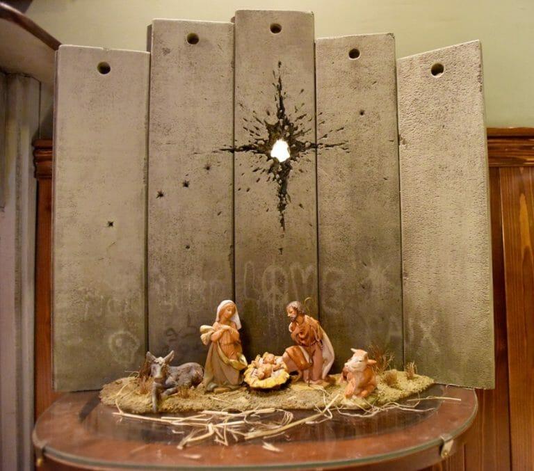 Neue Banksy-Arbeit in Bethlehem (imago images/UPI Photo)