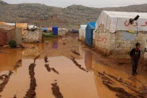 Flüchtlingslager an der türkischen Grenze in Nordsyrien (imago images/ZUMA Press)