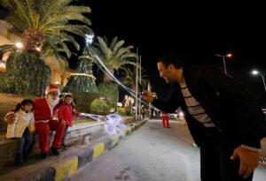 Syrer feiern Weihnachten in Damaskus