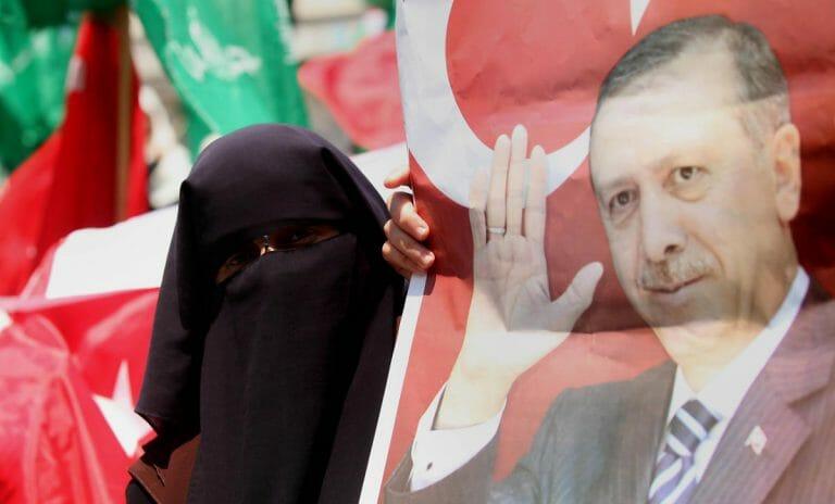 Pro-Erdogan Demonstration in Gaza, 2016