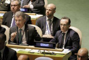 Deutschlands UN-Botschafter Christoph Heusgen und Außenminister Heiko Maas (imago images/photothek)