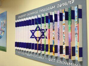 Kunstwerk in der Pausenhalle der Freien Christlichen Schule Ostfriesland (Foto: Stefan Frank)