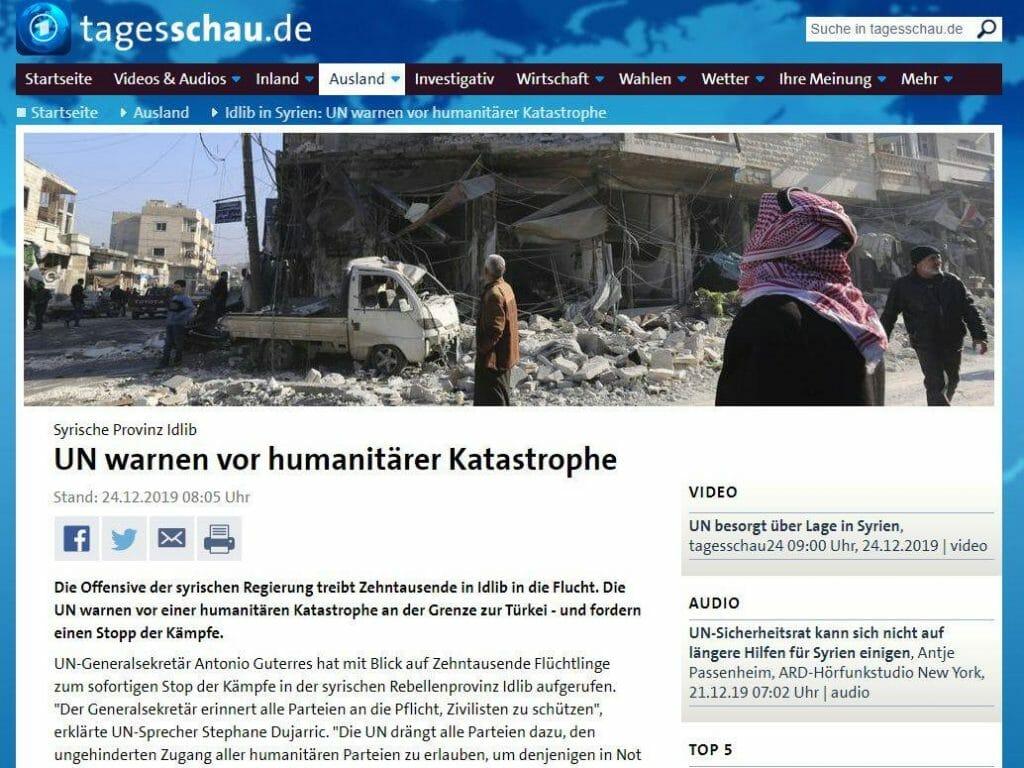 Alle Jahre wieder: UNO warnt vor humanitärer Katastrophe in Syrien