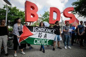 Demonstranten der Israelboykott-Bewegung BDS
