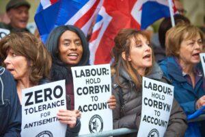 Demonstration gegen den Antisemitismus in der Labour Party