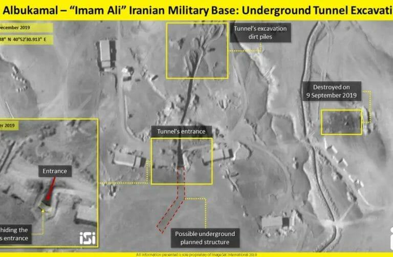 Satellitenaufnamhen des iranischen Imam-Ali-Stützpunktes in Syrien