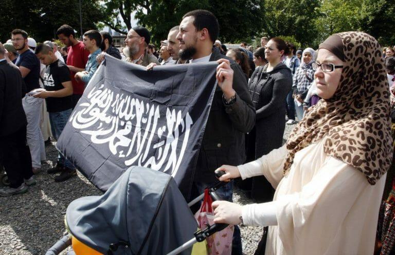 Demonstration von Islamisten in Deutschland