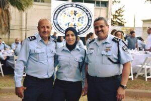 Generalmajor der israelischen Polizei Jamal Hakrusch (re.)