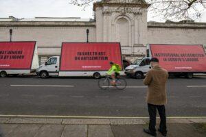 Protestaktion gegen den Antisemitismus in der Labour Party
