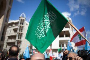 Demonstration anlässlich der Heimkehr Hariris in den Libanon im Jahr 2017