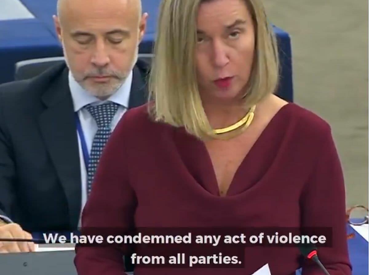 Federicha Mogherini verurteilt Gewalt von Demonstranten und vom Regime im Iran gleichermaßen