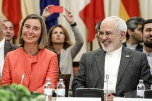 Die scheidende EU-Außenbeauftragte Mogherini und Irans Außenminister Zarif