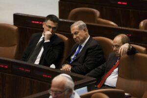 Gideon Saar (links) und Benjamin Netanyahu