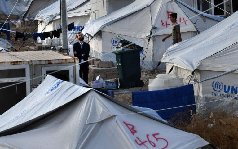 Flüchtlingslager für vor den türksichen Truppen geflohenen Kurden