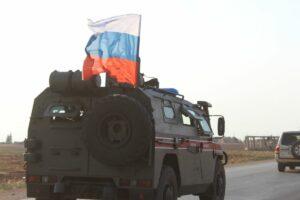 Russisches Militärfahrzeug in Nordsyrien