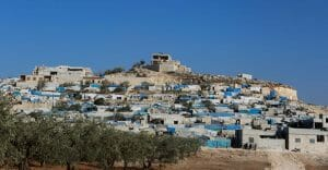 Syrisches Flüchltingslager, das am 20. November von Regimekräften bombardiert wurde