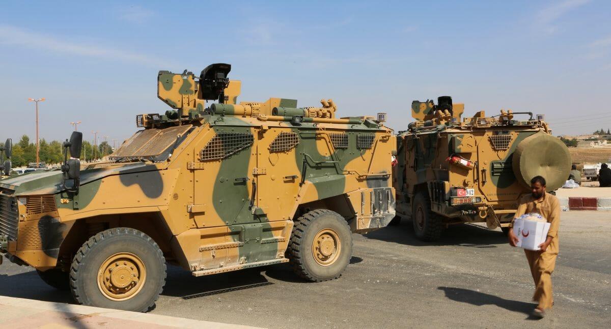 Türkische Armeefahrzeuge in Nordostsyrien