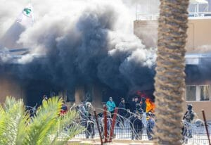 Angriff auf US-Botschaft in Bagdad (imago images/UPI Photo)