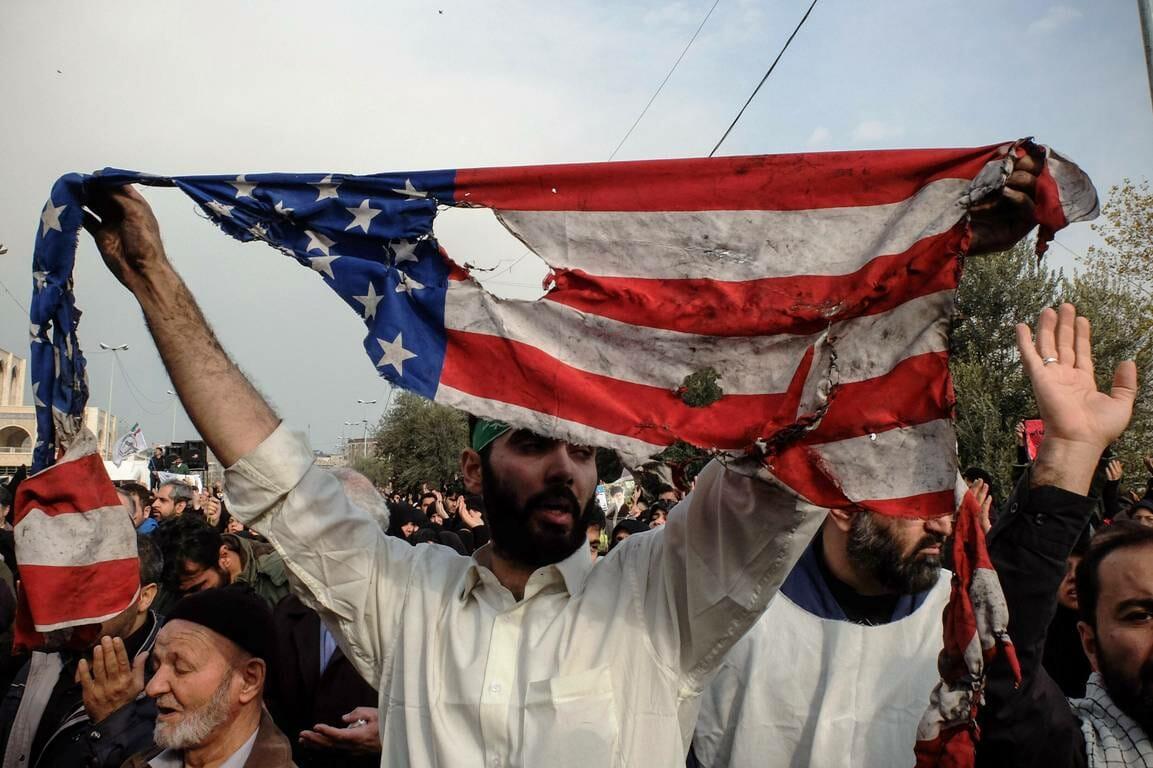 Auf einer Trauerkundgebung für Soleimani im Iran (imago images/ZUMA Press)