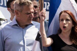 Nitzan Horowitz (li.) belegt Platz drei auf der neuen Wahlliste, Stav Shaffir (re.) ist nicht mit dabei. (imago images/ZUMA Press)