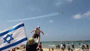 Flugshow am Strand von Tel Aviv