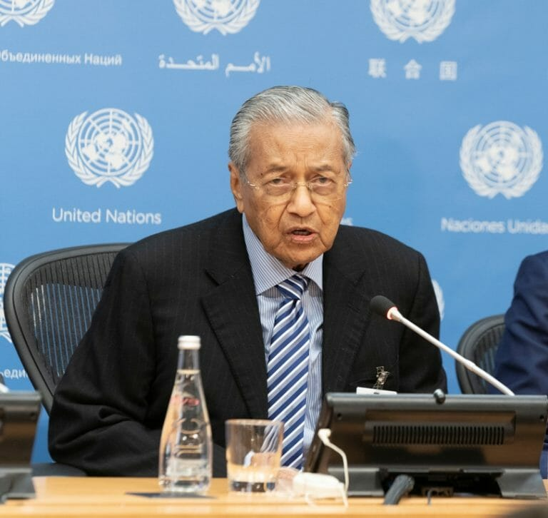 Ein Antisemit als Ministerpräsident: Indonesiens Mahathir Mohamad (imago images/Pacific Press Agency)