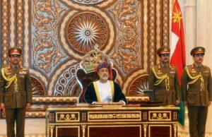 Der neue Sultan des Oman bei seiner Angelobung (imago images/Xinhua)