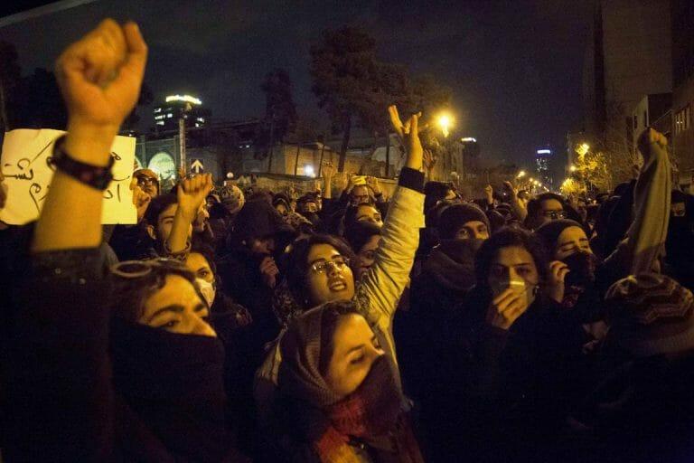 Regimekritische Proteste in Teheran am 11. Januar 2020 (imago images/ZUMA Press)