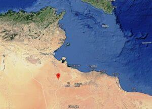 Standort für das geplante Flüchtlingslager bei Remada in Tunesien (Google Maps)