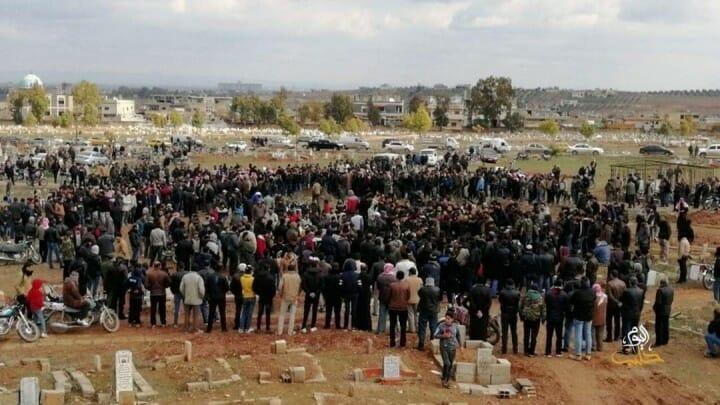Begräbnis von Mohamed Ismail Aba Zaid im syrischen Daraa