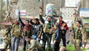 Kämpfer der türkisch unterstützten Freien Syrischen Armee
