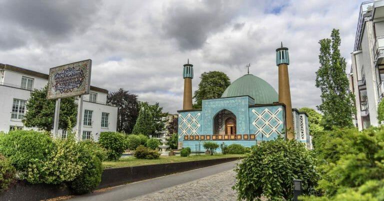 """Die """"Blaue Moschee"""" des Islamischen Zentrum Hamburg"""